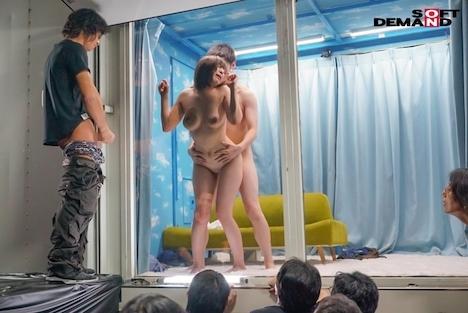 【SODマジックミラー号】逆転ミラー号!高校時代のマドンナを同窓会で公開羞恥・里奈 14