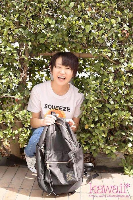 【新作】九州生まれで方言バリバリのピュアな田舎娘発掘! でも脱いだらEカップ!しかもオナニーもエッチも大好き!くしゃくしゃ笑顔が可愛い 馬場のん AVデビュー 11