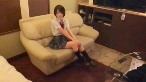【黒船】【女子◯生:個人撮影】制服姿でお漏らし絶頂!清楚な顔してエッチ大好きゆりなちゃん☆ 12