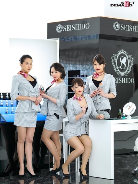 SEISHIDO デパートで働くセクシーな赤い口紅の美容部員の生フェラごっくんサービス