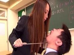 教師にセンズリさせるお嬢様JK