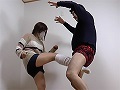 元プロレス練習生ルカ 金蹴り護身術