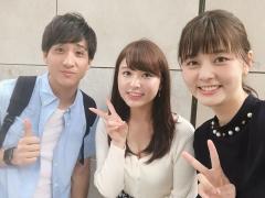 角谷暁子アナ谷間&ブラ紐画像1