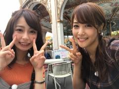 鷲見玲奈アナと宇垣美里アナTバック画像2