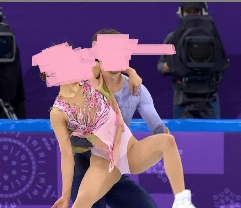 スケートをエロい角度で見た4