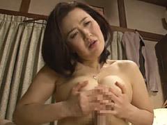 加藤英子 未亡人となってから息子と肉体関係を持つ巨乳母(四十路)の極上パイズリ!