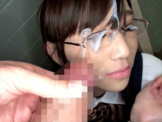 Glasses Facial cumshot39