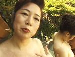 エロ備忘録 : 【無修正】波純子  露天付き旅館で熟女と3P