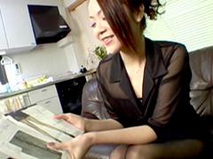 【無修正】パンスト訪問販売に心躍る三十路奥様 林由美香