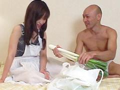 【無修正】加賀雅 ネギをジュブジュブ三十路淫乱妻