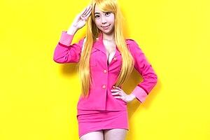 鈴木ふみ奈の「こち亀」の麗子コスが美巨乳お乳パンパンでえちえちじゃねーかwwwwww