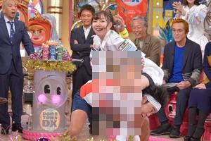須田亜香里(SKE48)がサンシャイン池崎にエロ卍固めで太もも興奮!!!