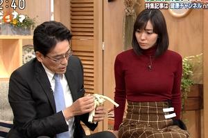 【エロ画像】中村慶子アナNHKの巨乳ニット横乳が視聴率もチンコも挙げている件www