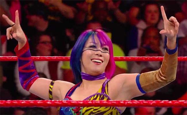 WWEのASUKA乳首ポロリのパンチラ画像
