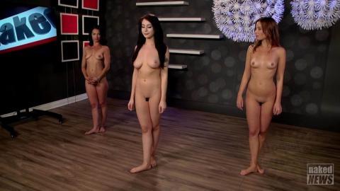 【ヌード画像】スタジオで全裸になった女子アナ…⇒生放送で全てをさらけ出す…