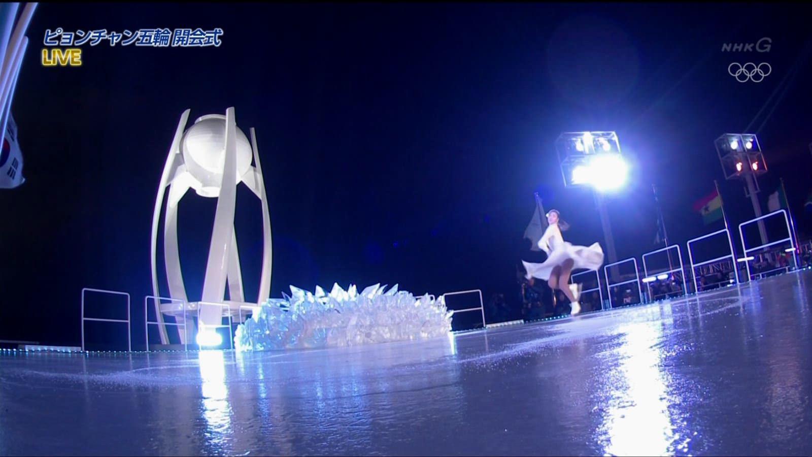 (ムービーあり)キムヨナがオリンピック開会式でガチパンツがもろ見えハプニング