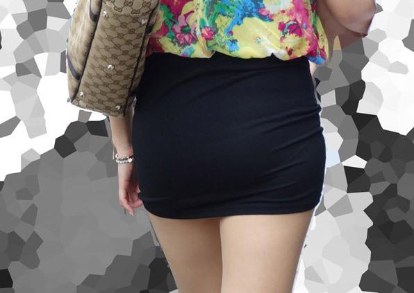 考えた奴天才だろ☆体のラインが丸分かりなタイトスカートのえろさがすばらしい
