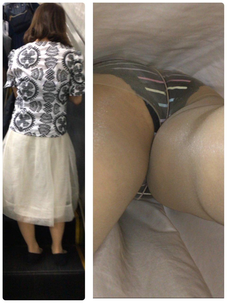 アダルト画像3次元 - 【逆さ撮り】ロングスカートを超低空から取材したパンモロ画像