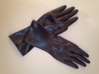 黒ラバーショート手袋