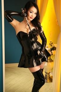 黒エナメルコルセットスカートセット