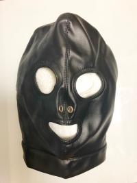 合皮編み上げ全頭マスク
