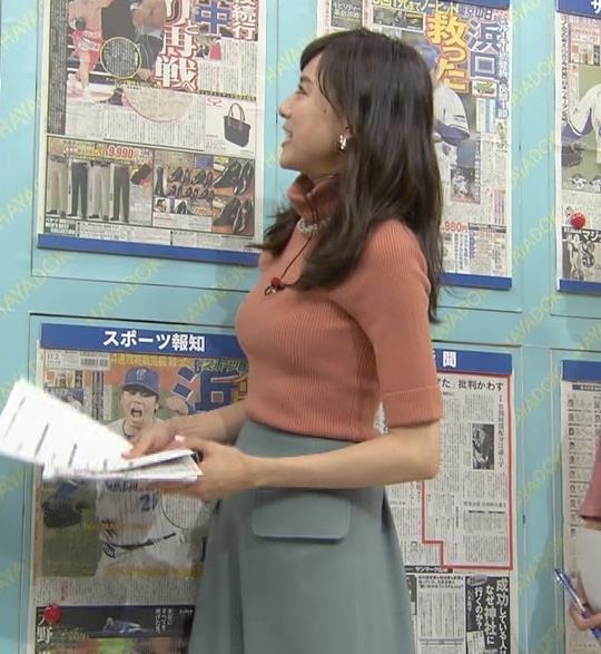 笹川友里 エロ過ぎ!巨乳がくっきりニットキャプ画像(エロ・アイコラ画像)