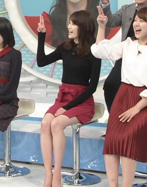 榊原美紅 ミニスカートで座って太ももチラリ(ファッションモデル)キャプ画像(エロ・アイコラ画像)