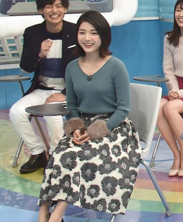 川島海荷 ニット乳キャプ画像(エロ・アイコラ画像)