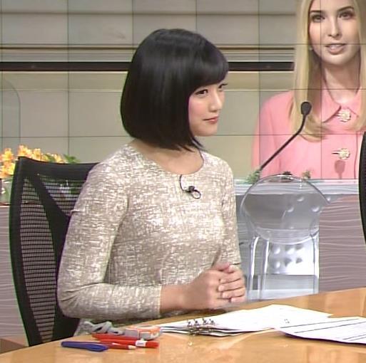 竹内由恵 胸のふくらみがエロいワンピースキャプ画像(エロ・アイコラ画像)