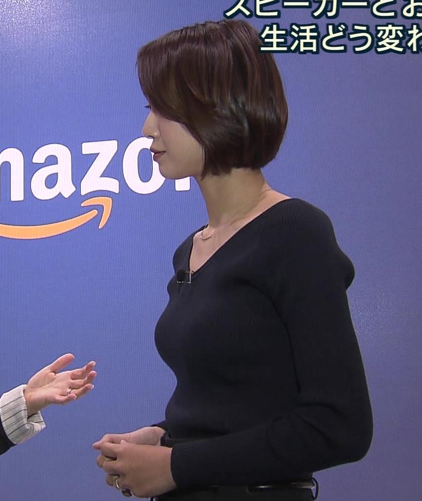 八木麻紗子 意外とエロい細身のニット横乳キャプ画像(エロ・アイコラ画像)