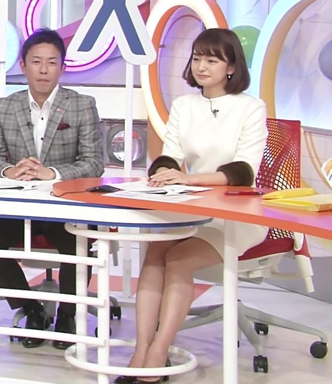 後藤晴菜 机の下のミニスカ太もも・生足キャプ画像(エロ・アイコラ画像)