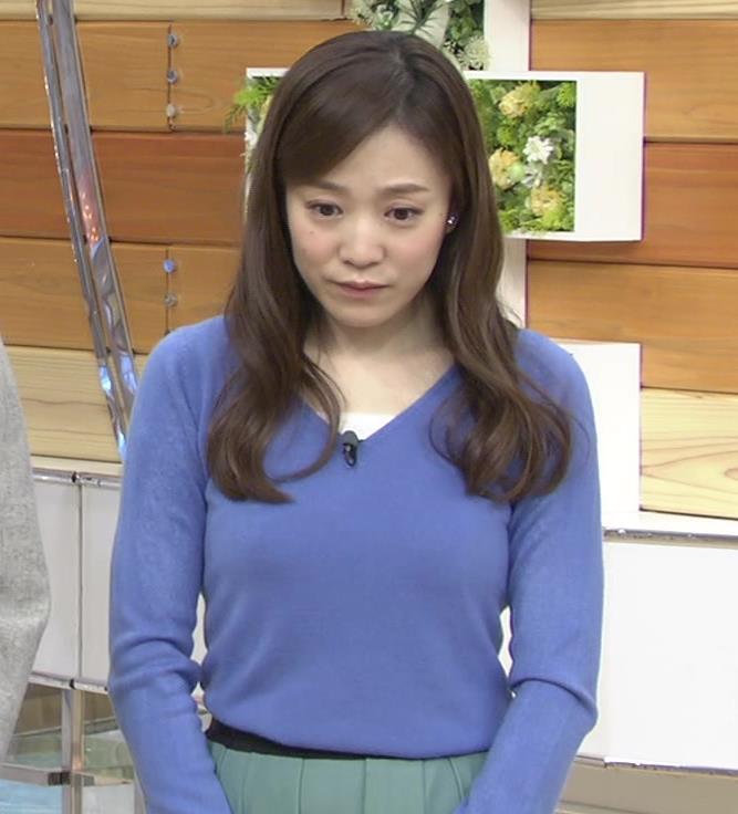江藤愛 ニットおっぱい画像2
