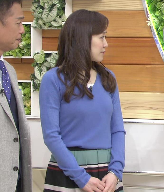 江藤愛 ニットおっぱい画像6