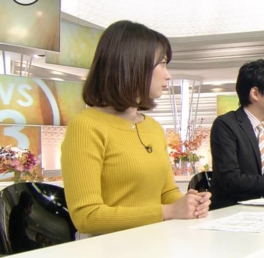 皆川玲奈 ニット★おっぱいキャプ画像(エロ・アイコラ画像)
