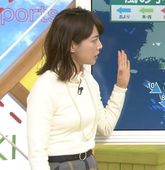 尾崎朋美 ニットおっぱい♡画像3