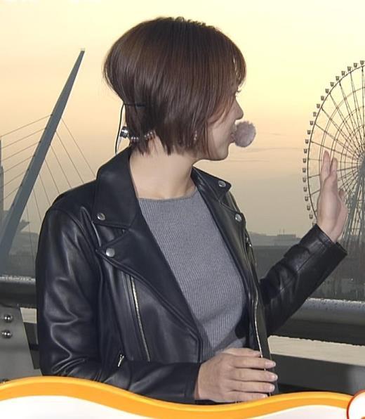 阿部華也子 ニット乳キャプ画像(エロ・アイコラ画像)