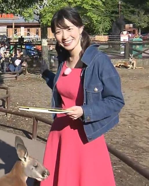 阿部華也子 巨乳が目立つニットのワンピースキャプ・エロ画像7