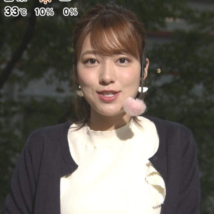 阿部華也子 乳がエロいニットキャプ・エロ画像6