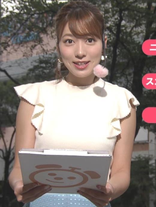 阿部華也子 乳がエロいニットキャプ・エロ画像9