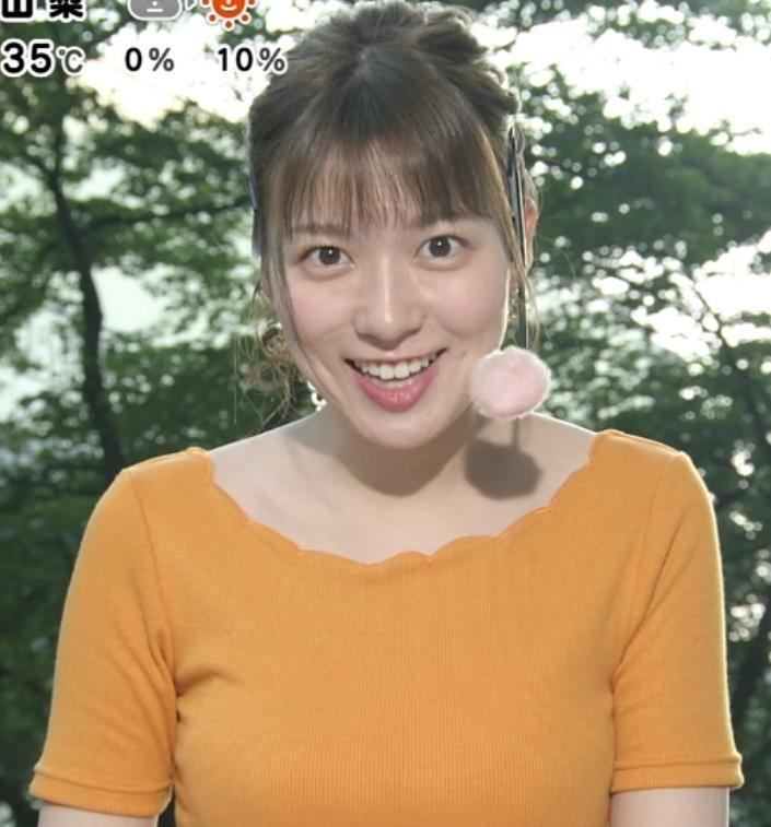 阿部華也子 ニット乳がまたエロかったキャプ・エロ画像3