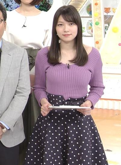 阿部華也子 ニット乳 コートを着た時の胸元の露出がエロいキャプ・エロ画像6