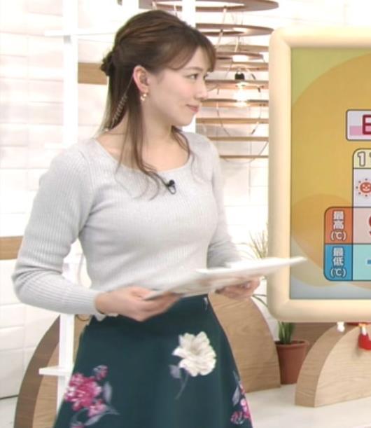 阿部華也子アナ ピチピチのニットキャプ・エロ画像5