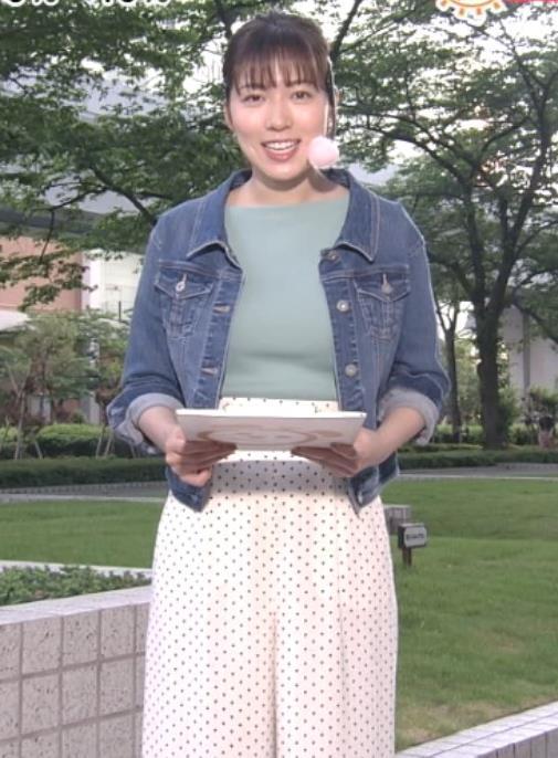 阿部華也子 ニットデカ乳キャプ・エロ画像