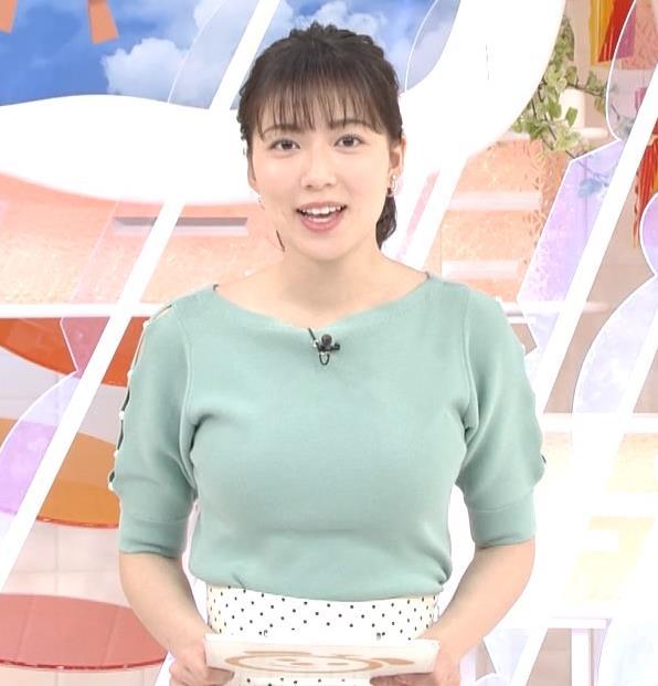 阿部華也子 ニットデカ乳キャプ・エロ画像2