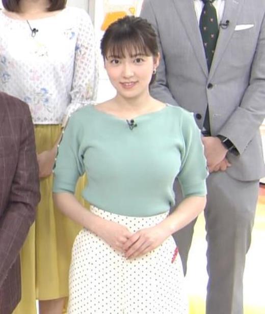 阿部華也子 ニットデカ乳キャプ画像(エロ・アイコラ画像)
