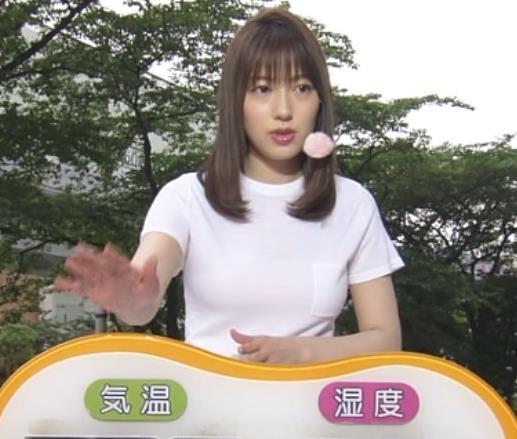 阿部華也子 Tシャツおっぱいキャプ・エロ画像2