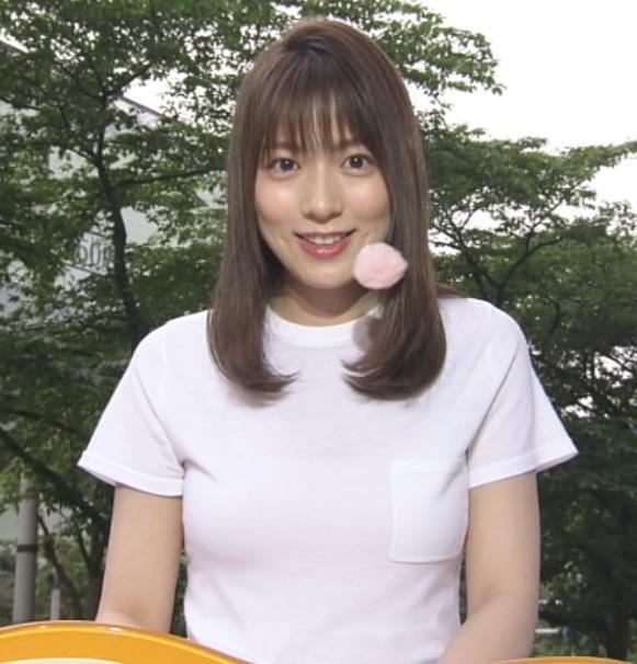 阿部華也子 Tシャツおっぱいキャプ・エロ画像4