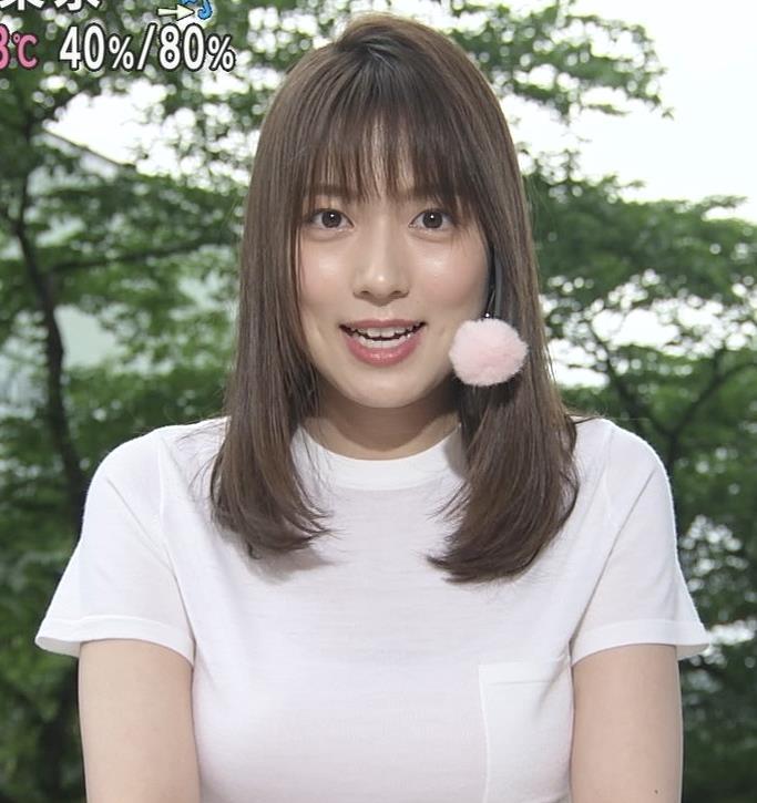阿部華也子 Tシャツおっぱいキャプ・エロ画像8