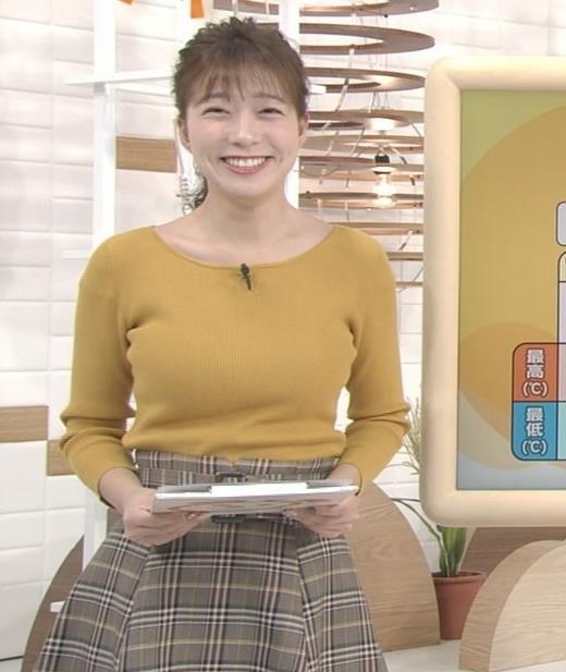 阿部華也子 デカいニット乳キャプ・エロ画像3