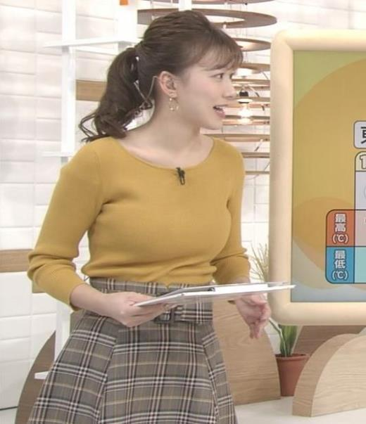 阿部華也子 デカいニット乳キャプ画像(エロ・アイコラ画像)